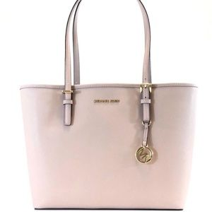 MICHAEL KORS Saffiano Leather TOTE BAG nude ballet